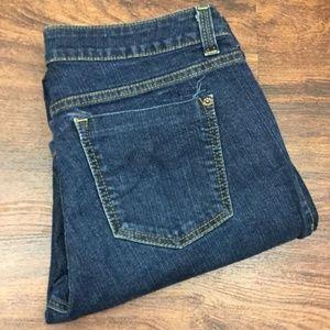 DKNY JEANS Womens Denim Dark Wash Blue Boot Cut